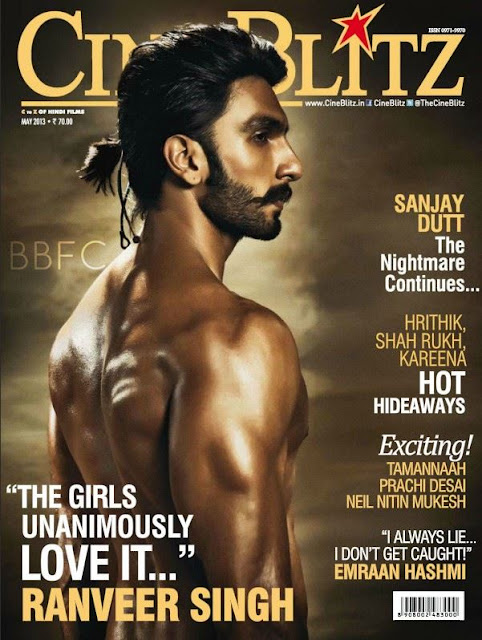 Ranveer Singh new look on the cover of CineBlitz - May 2013 !