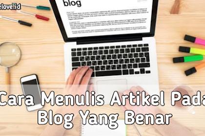 Cara Menulis Artikel Pada Blogger Dengan Benar
