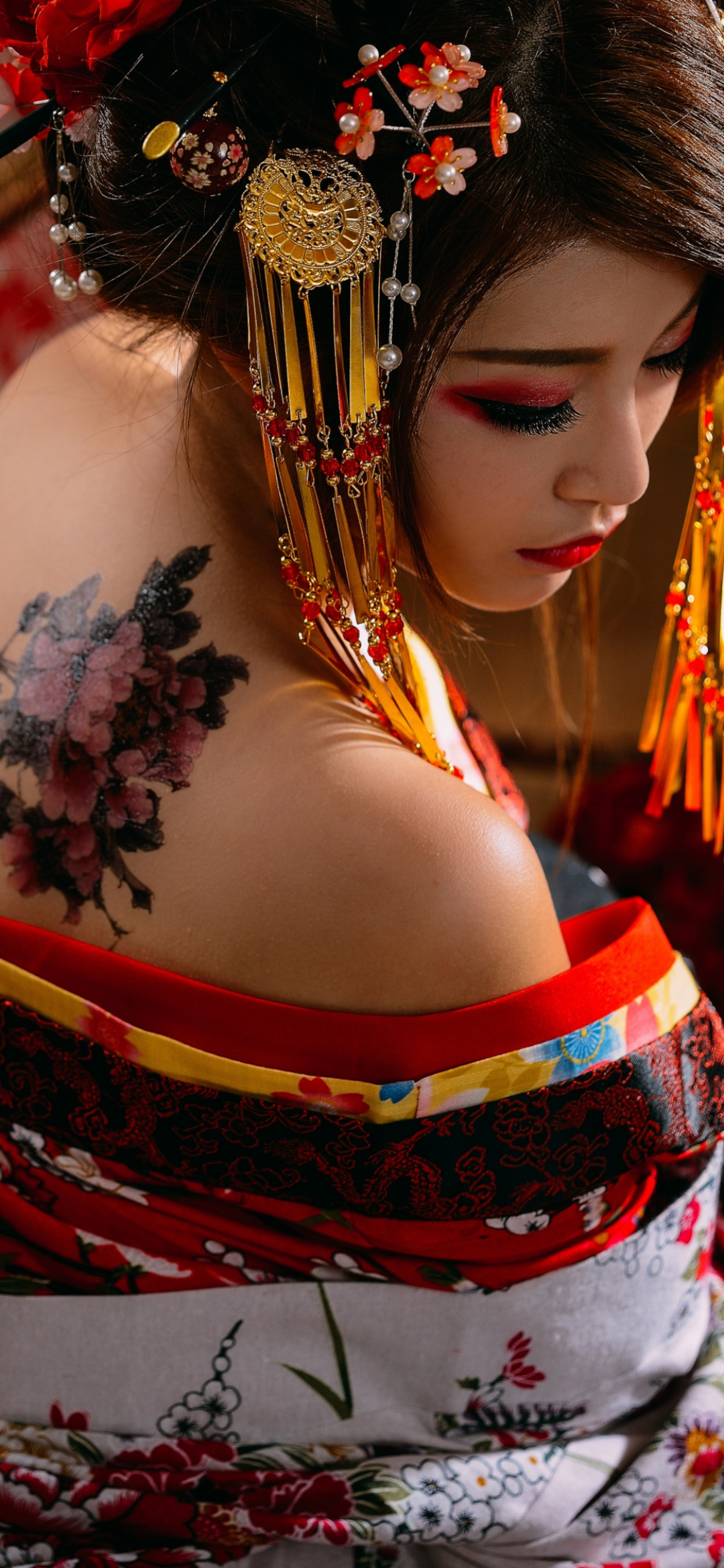 geisha woman mobile wallpaper