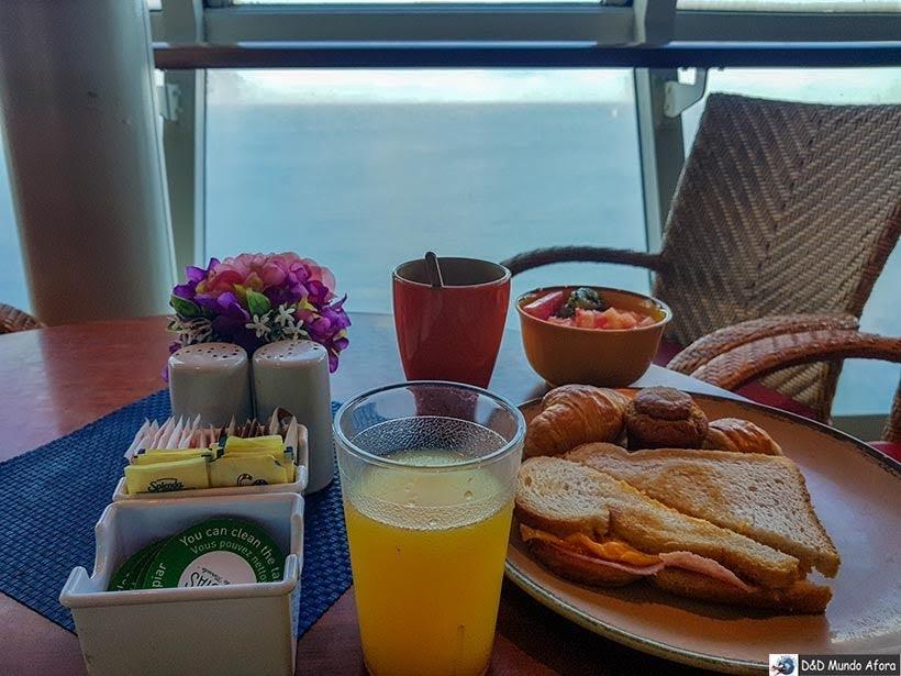 Café da manhã do navio - Cruzeiros marítimos: tudo sobre viagem de navio