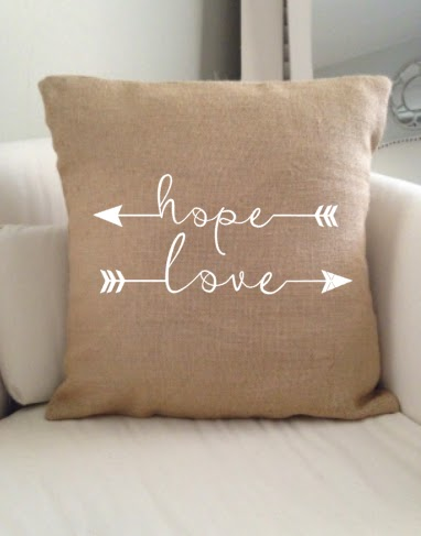 Silhouette Studio, free cut files, cut files, hope and love arrows, arrows, burlap, pillow