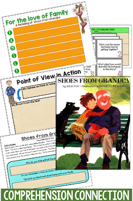 The simplicity of Shoes from Grandpa makes it perfect for Grandparents' Day or any time of year. Check out the comprehension activities that will take it to a higher level.