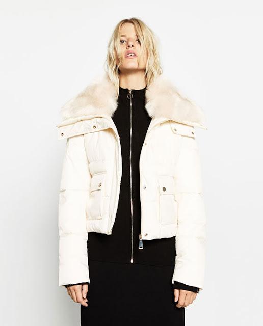 manteau blanc zara