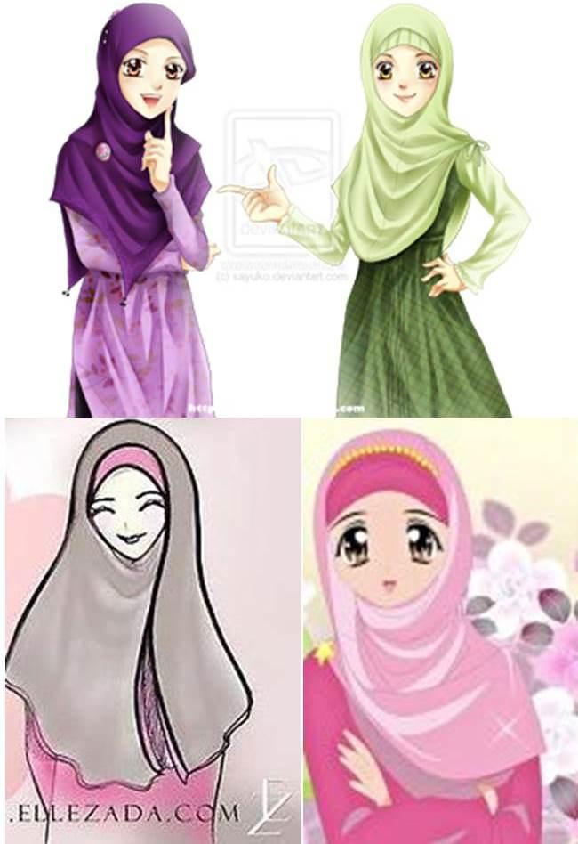 Gambar Fansite Jilbab Gambar Animasi Muslimah Berjilbab di Rebanas  Rebanas