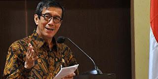 Menteri Hukum dan Hak Asasi Manusia Yasonna Laoly-RUU KPK