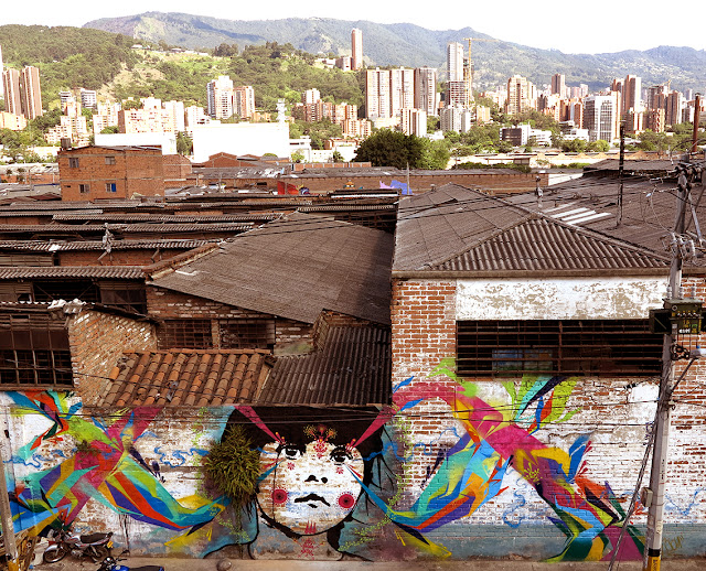 The one and only Stinkfish is back in Colombia where he just finished working on a brand new piece somewhere on the streets of Medellin.