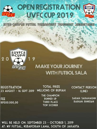 Lomba Futsal UVFC Cup 2019 di Jabodetabek Untuk Mahasiswa