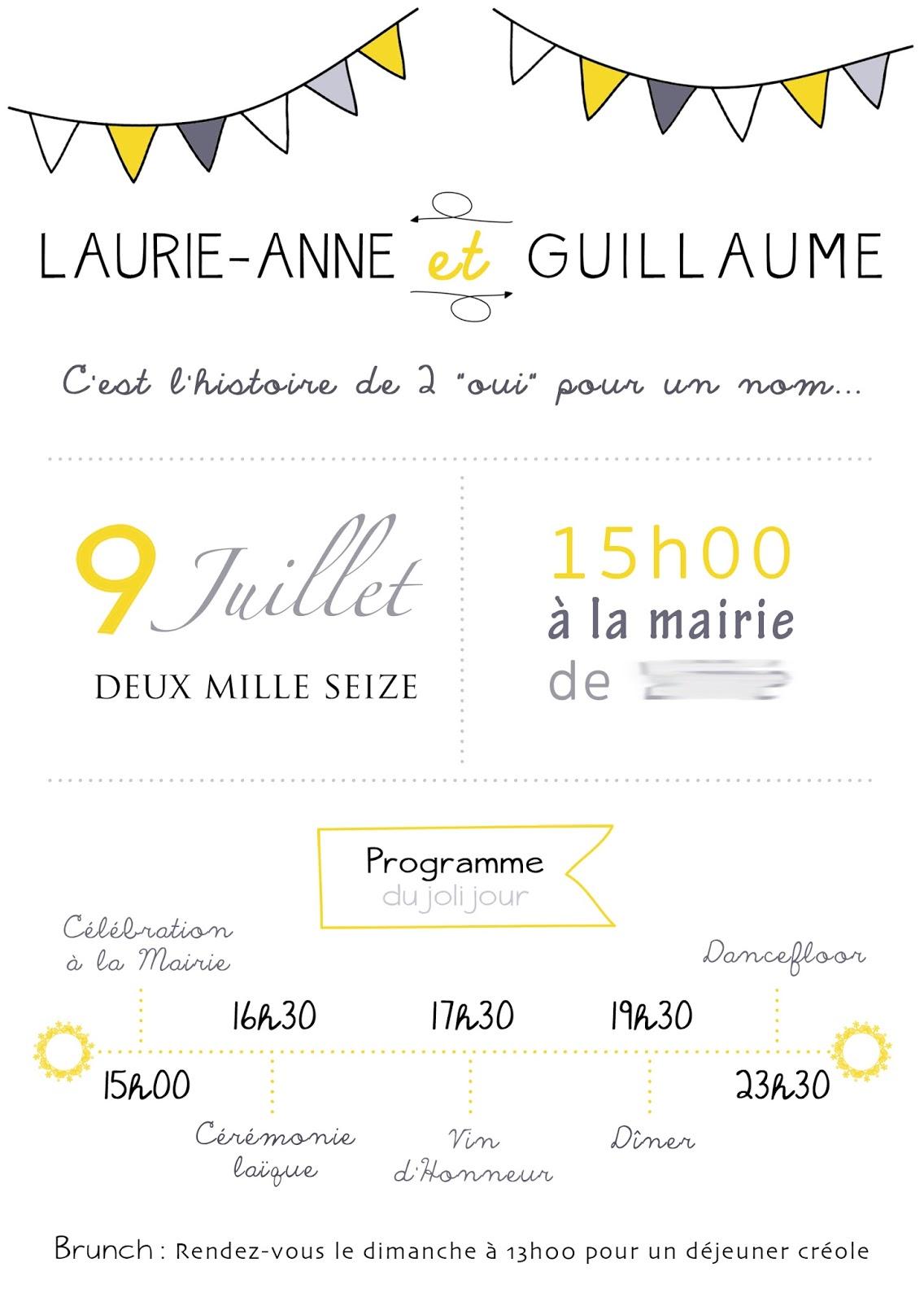 Carte d invitation vin d'honneur mariage