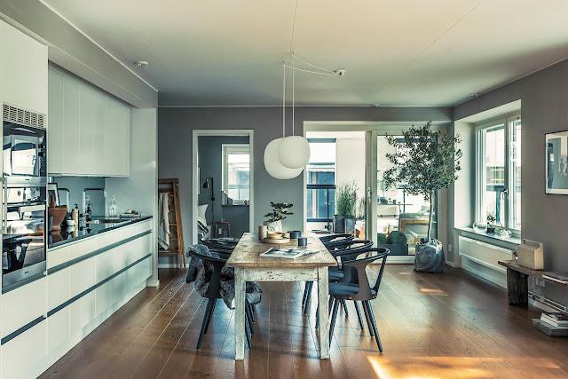 Proiect contemporan de amenajare pentru un penthouse de 92 m²