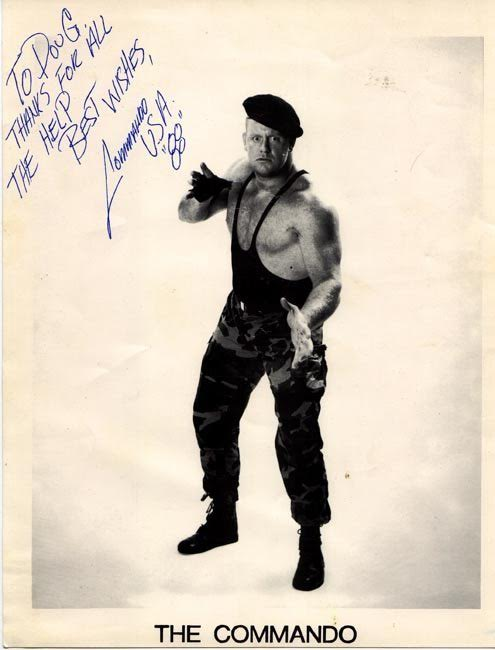 The Undertaker (Mark Calaway) earliest wrestling gimmick The Commando