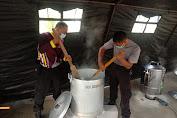 Bantu Puluhan Siswa Di Mrebet Jalani Isolasi Terpusat, Polres Purbalingga Dirikan Dapur Umum