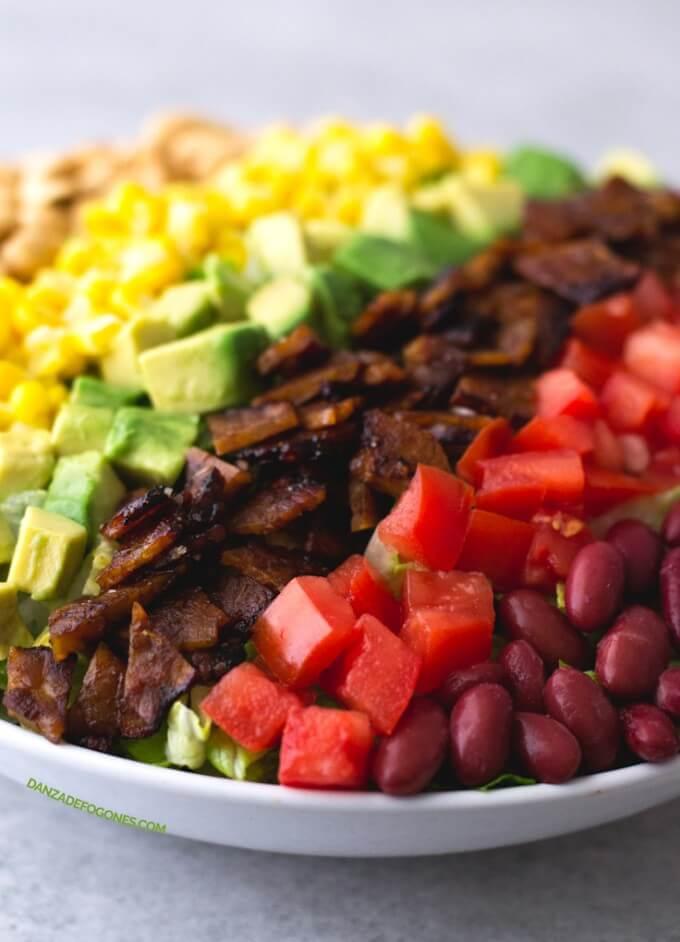 Vegan Cobb Salad with Tempeh Bacon