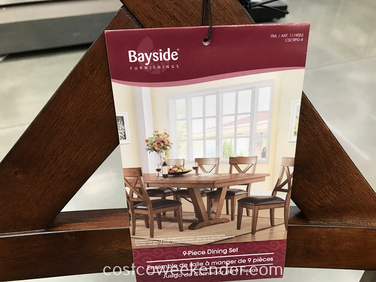 Bayside Furnishings 9-piece Dining Set: rustic yet practical