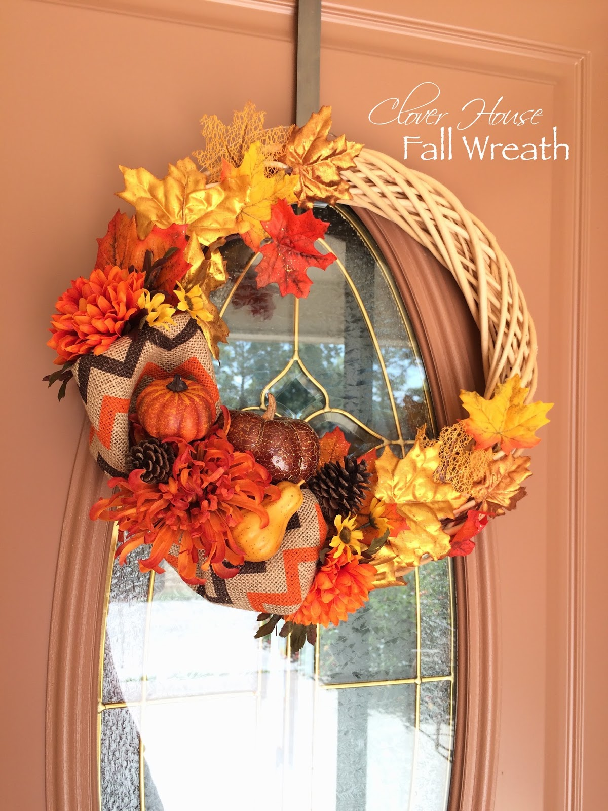 Easy Fall Kids Crafts That Anyone Can Make: Clover House: Easy Fall Wreath