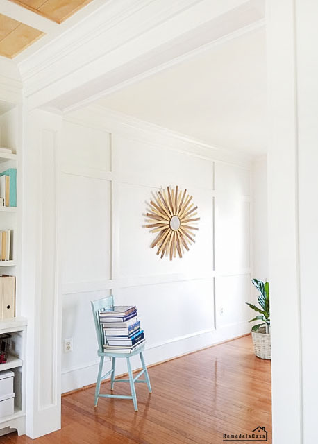 how to trim a doorway between dining and living room -