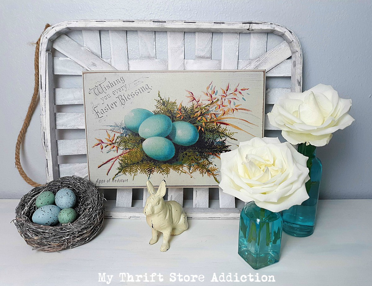 floral Easter decor