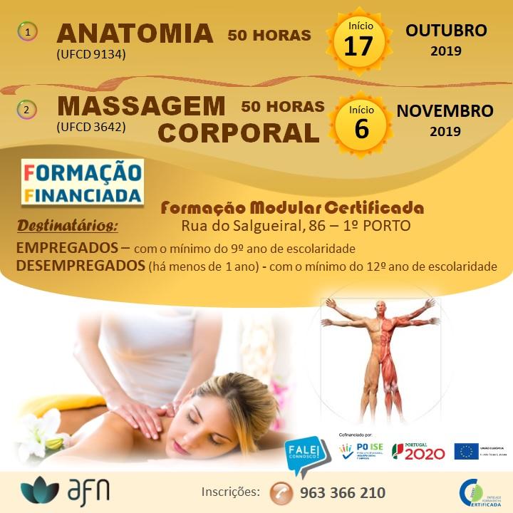 Formações financiadas (Anatomia e Massagem Corporal) – Porto