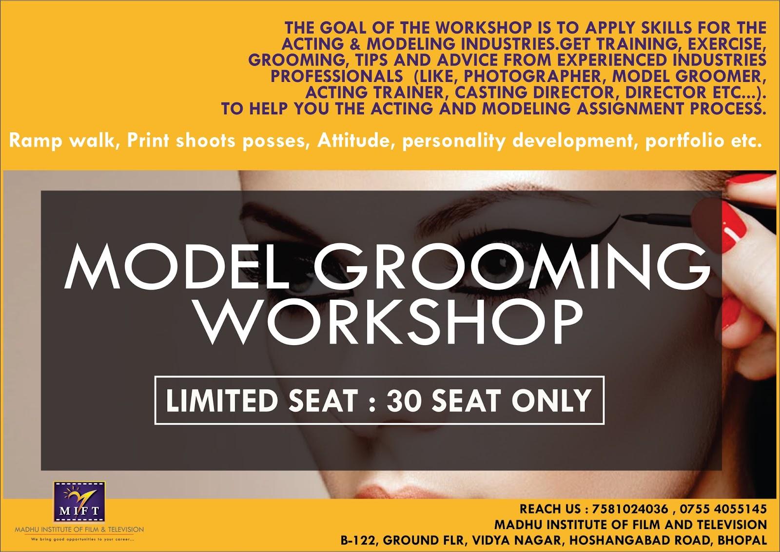 Registration open : Actor grooming workshop madhu institute