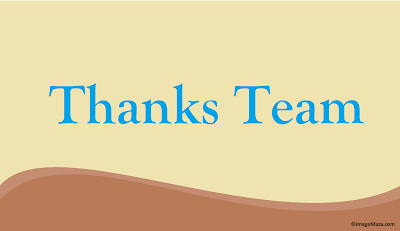 Professional images of Thank You to Team