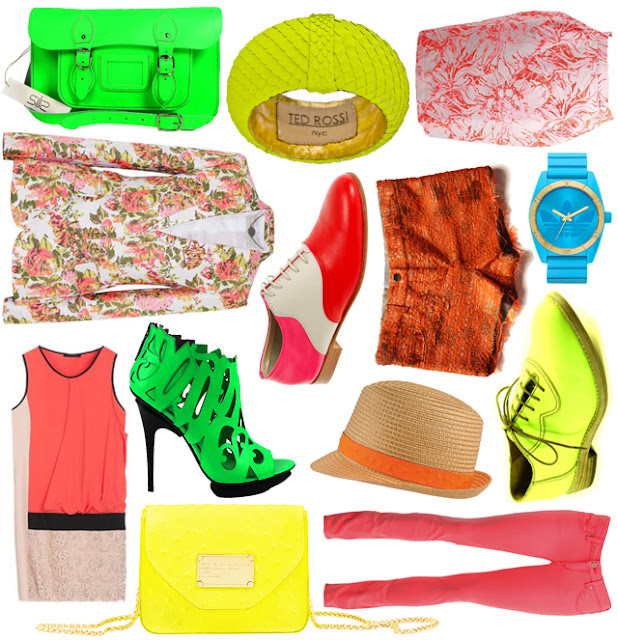 Mix & Match; A Splash of Neon by La Vie Fleurit! #style #trend #neon #colour #spring #summer #ss2013 #fashion #accessories #eyecandy #win
