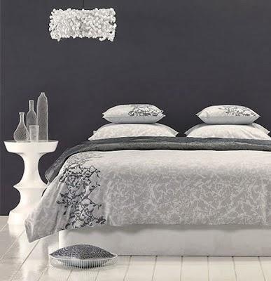 Dormitorio matrimonial gris