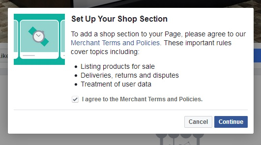 how to add shop to facebook page