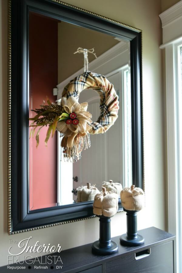 Fake Burberry Fall Scarf Wreath On Mirror