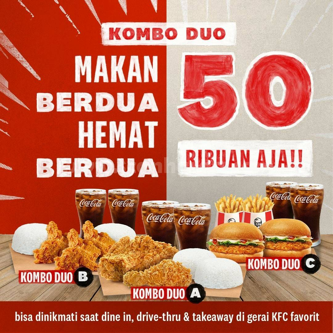 KFC KOMBO DUO - Promo Makan Ber-2 cuma 50 RIBU*