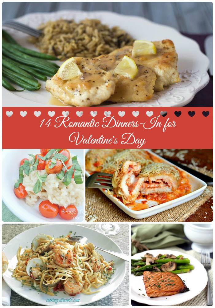 No need to make dinner reservations this Valentine's Day! Not when you have these 14 Romantic Dinners-In for Valentine's Day.