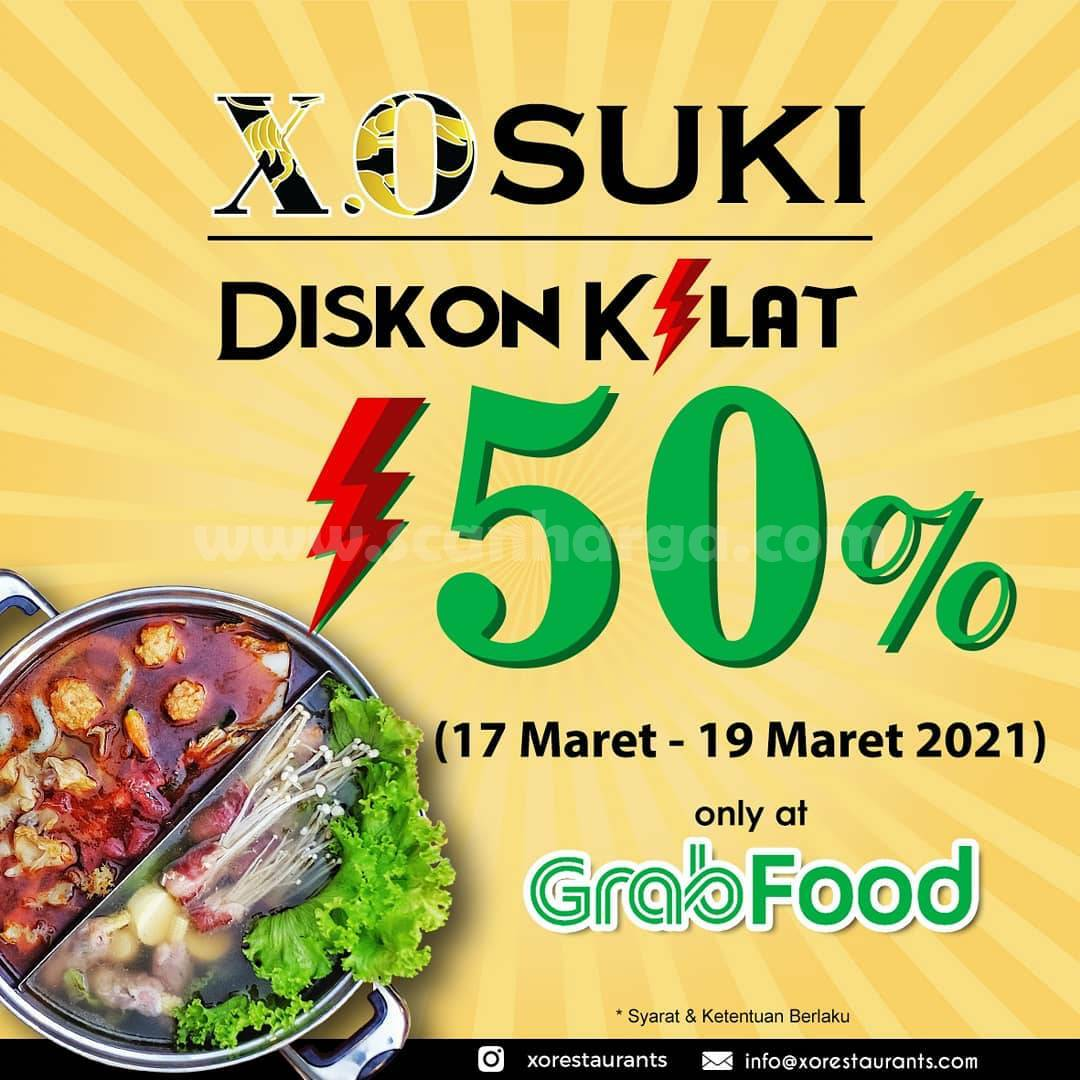 XO SUKI Restaurant Promo Flash Sale! Diskon Kilat 50% Via GRABFOOD