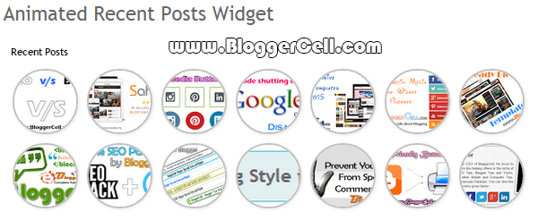 Animated Recent Post Widget for Blogger