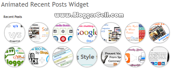 Amazing Animated Recent Post Widget for Blogger