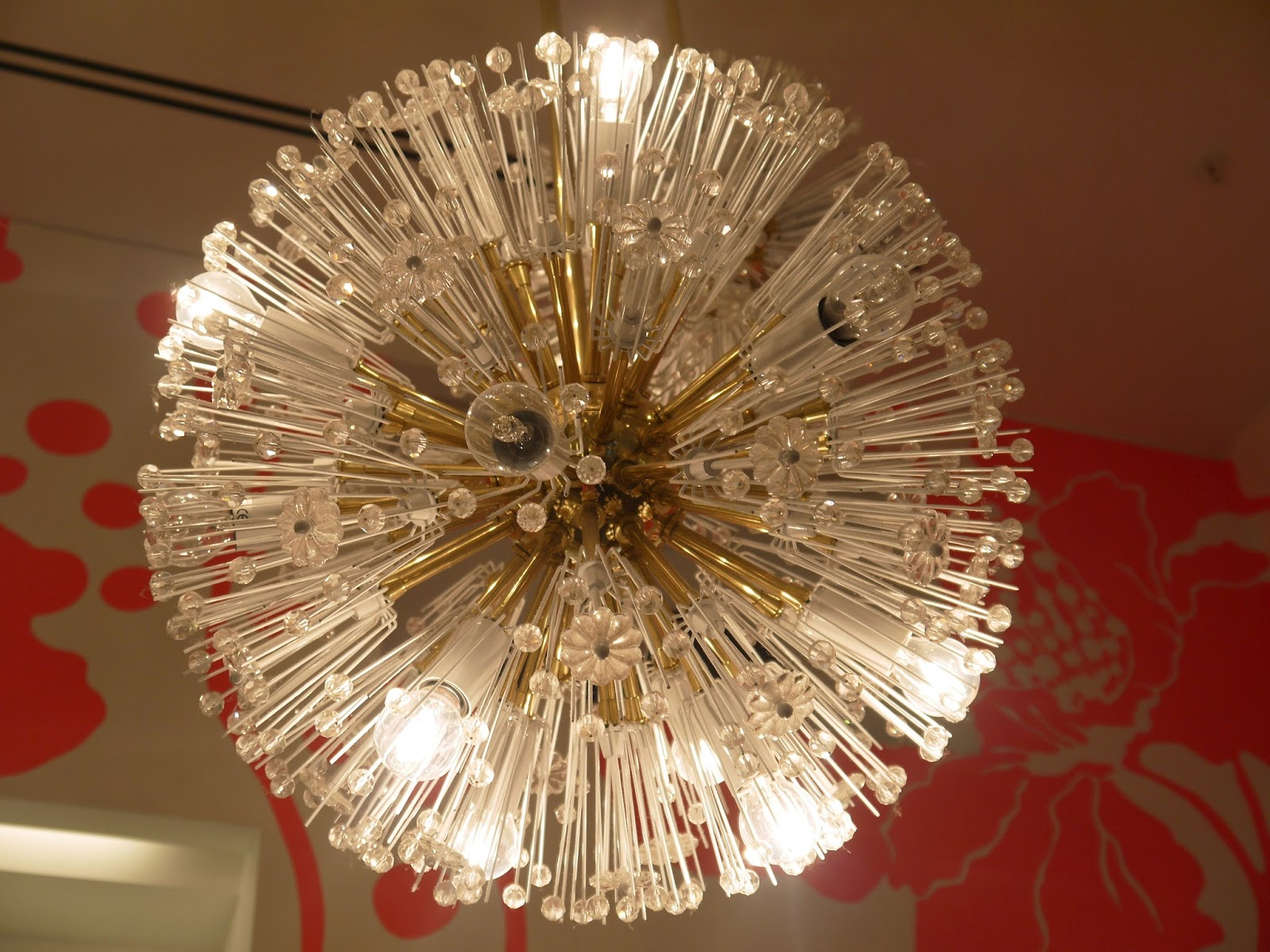 The Beautiful chandelier at Kate Spade Westfield Store