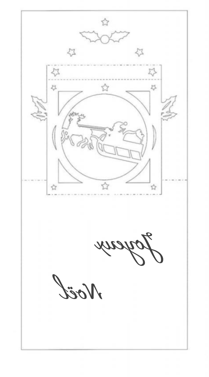 Carte Popup De Nol En Kirigami
