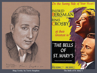 Bing Crosby. Crooner. Singer, Musician and Actor. The Bells of St Mary's. by Travis Simpkins