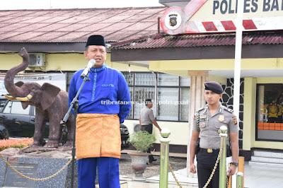 Kapolda Jambi Pimpin Apel Konsolidasi Operasi Ilegal Driling Di Mapolres Batanghari