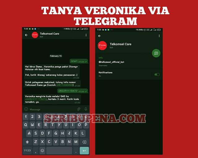 Chat Veronika Asisten Virtual di telegram
