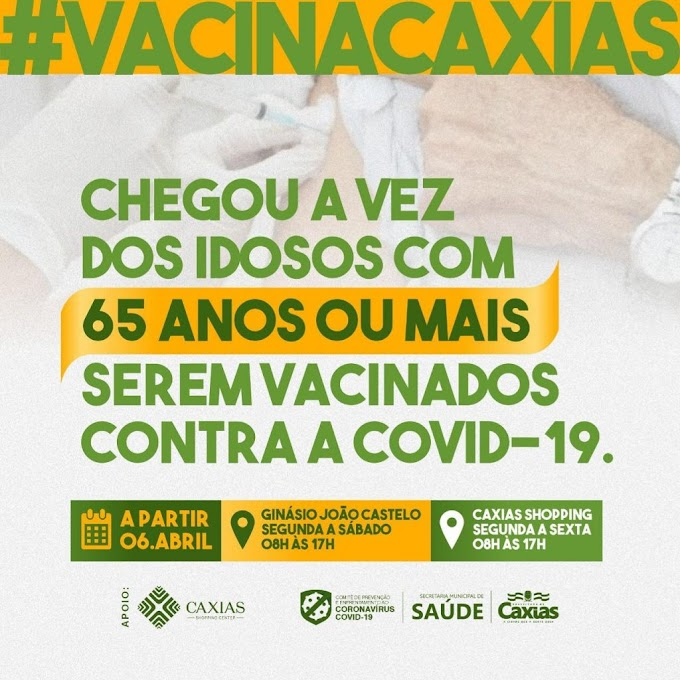 SAÚDE – Começa nessa terça-feira (06) a vacinação contra a covid-19 para idosos a partir de 65 anos