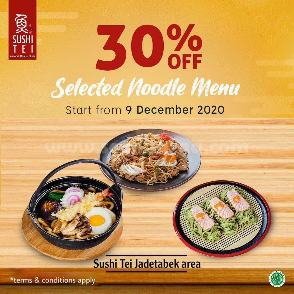 Promo SUSHI TEI Discount 30% Selected Noodles Menu Series