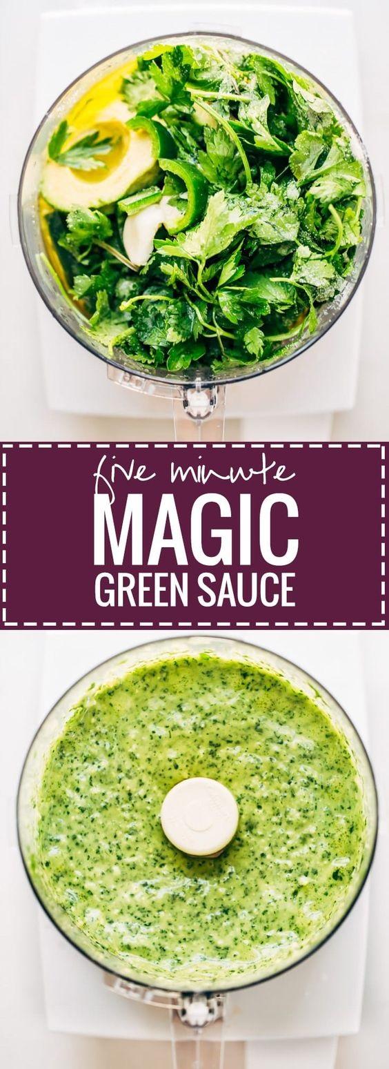 5 Minute Magic Green Sauce