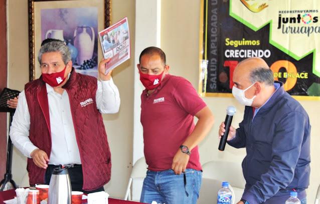 Consejeros de Morena dan espaldarazo a Rafa Ortiz con Reconstruyamos Juntos Uruapan