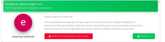 Terdapat Fitur opsional Google Drive atau Lokal storage