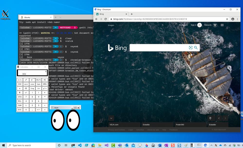 Linux apps running