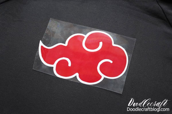 Naruto Akatsuki Robe Cloud Hoodie with Cricut Layered Iron-on Vinyl