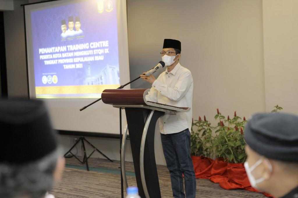 Amsakar Membuka Pemantapan TC Pesrta Kota Batam Yang Mengikuti STQ IX Tingkat Provinsi Kepri