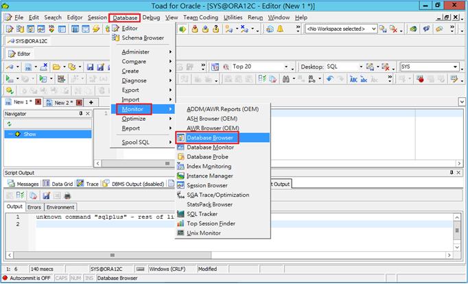 如何利用Toad for Oracle產出RMAN script?