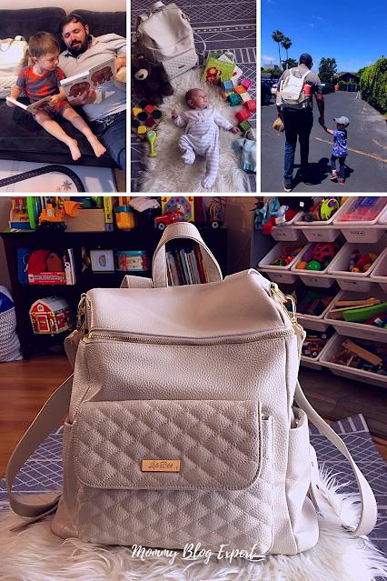Luli Bebe Monaco Faux Leather Diaper Bag