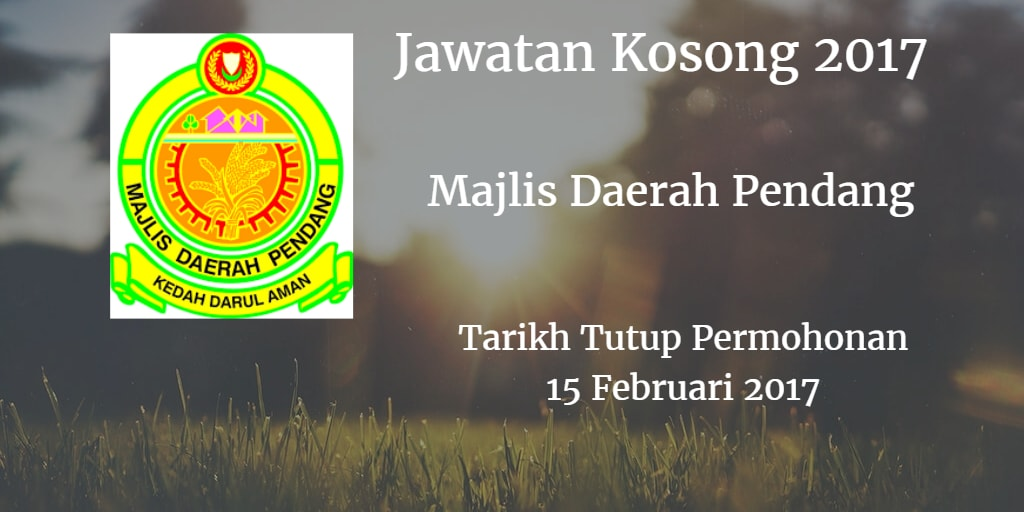 Jawatan Kosong MdPendang 15 Februari 2017