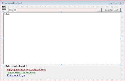Cara Membuka dan Membaca Data Excel dengan ListView di VB6