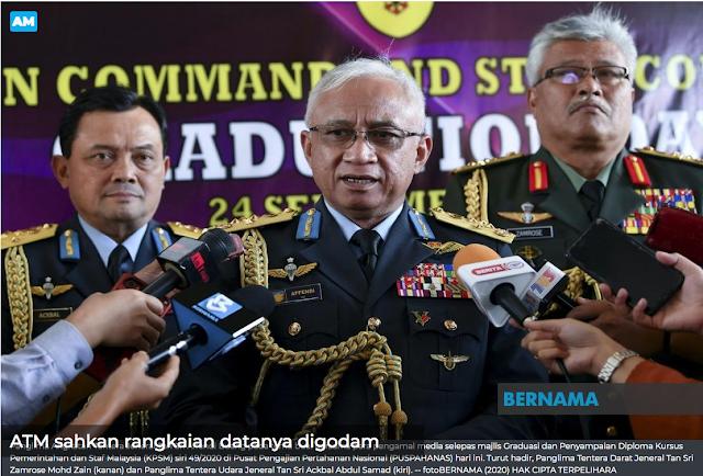RANGKAIAN DATA ANGKATAN TENTERA MALAYSIA DIGODAM